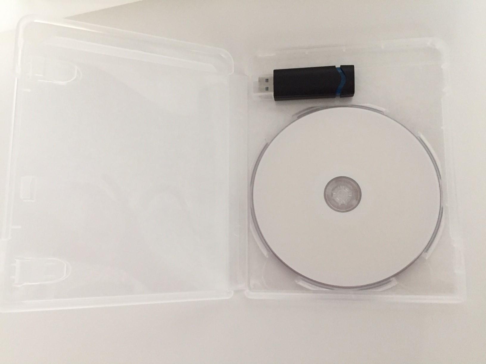 Dvd Und Usb Hülle Transparent Für 1 Cddvd Und 1 Usb Stick